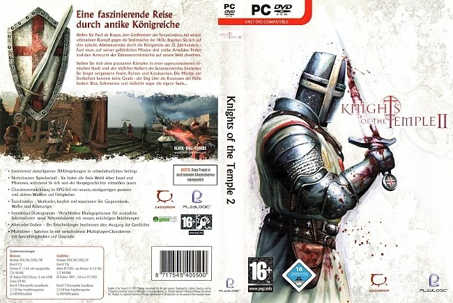 Knights of the Temple 2 pc cover german Computer pc cover german