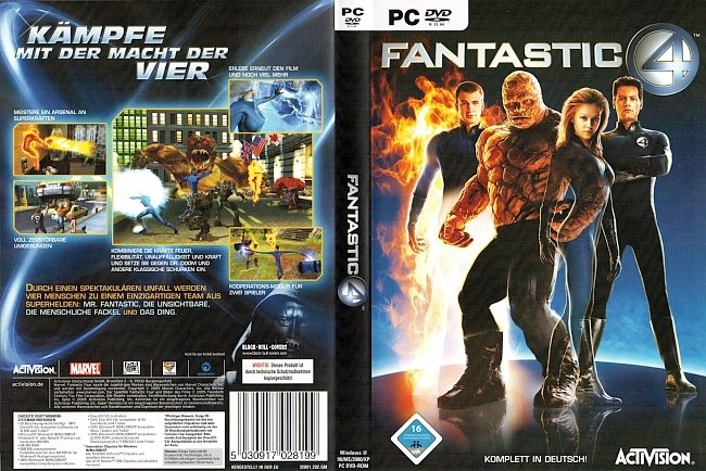 Fantastic 4 PC DVD Rom Cover German The Video Game Videospiel pc cover german
