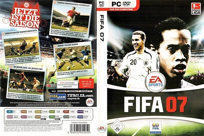 Fifa 07 PC DVD ROM Deutsch German EA Sports pc cover german