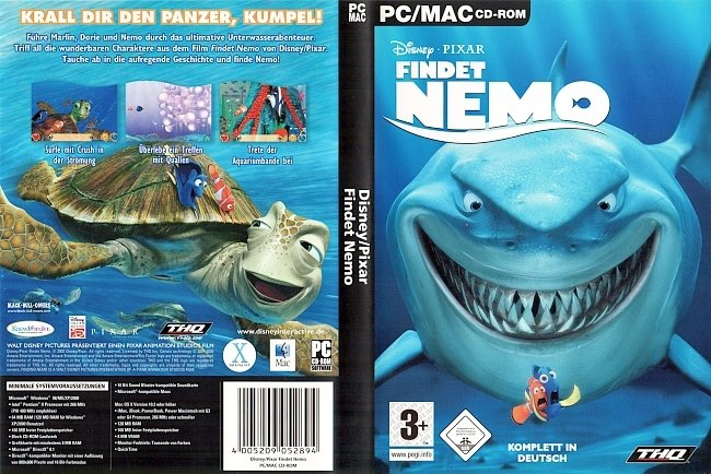Findet Nemo PC CD ROM Cover Deutsch German Spiel pc cover german