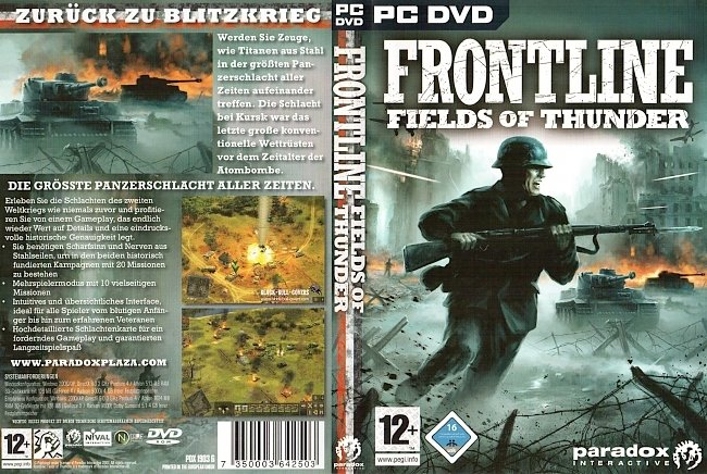 Frontline Fields of Thunder Cover German PC DVD Deutsch pc cover german