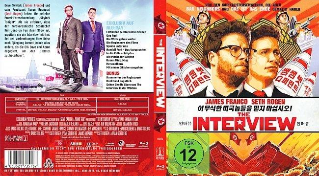 The Interview Film Cover Bluray Deutsch German german blu ray cover
