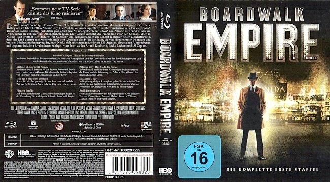 Boardwalk Empire HBO Serie Staffel1 Season1 S01 Cover Deutsch German Blu ray german blu ray cover