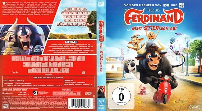 Ferdinand Geht Stierisch ab Blu ray Cover Deutsch German german blu ray cover