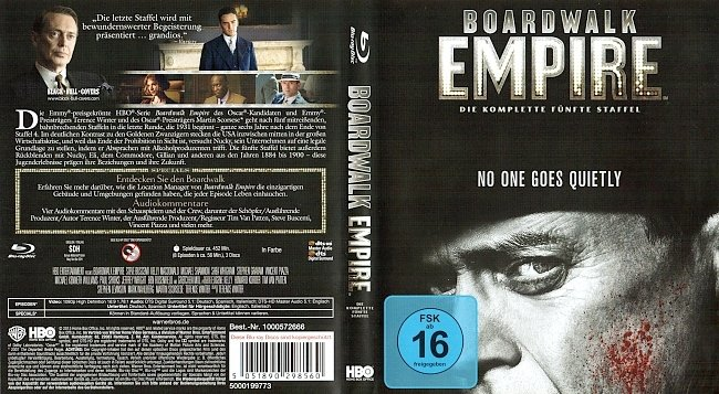 Boardwalk Empire Staffel 5 Season5 S05 Cover Deutsch German Blu ray german blu ray cover