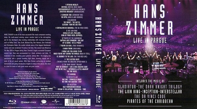 Hans Zimmer Live in Prague Blu ray blu ray cover german