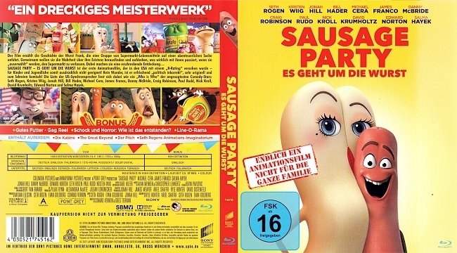 Sausage Party Es geht um die Wurst Bluray Cover Deutsch German german blu ray cover