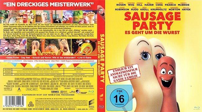 Sausage Party Es geht um die Wurst Bluray Cover Deutsch German german blu ray cover