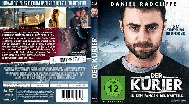 Der Kurier In den Fangen des Kartells Bluray Deutsch German german blu ray cover