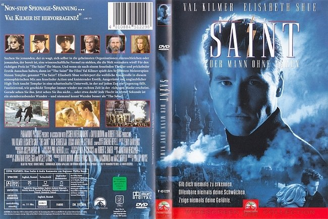 The Saint Der Mann ohne Namen Val Kilmer german dvd cover