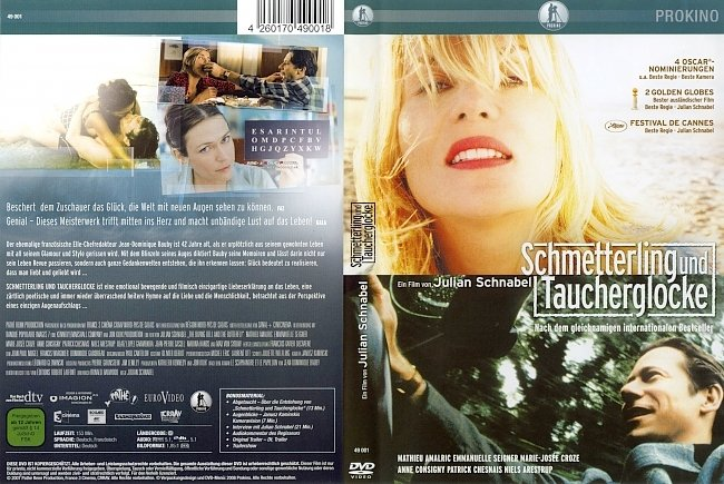 Schmetterling und Taucherglocke dvd cover german