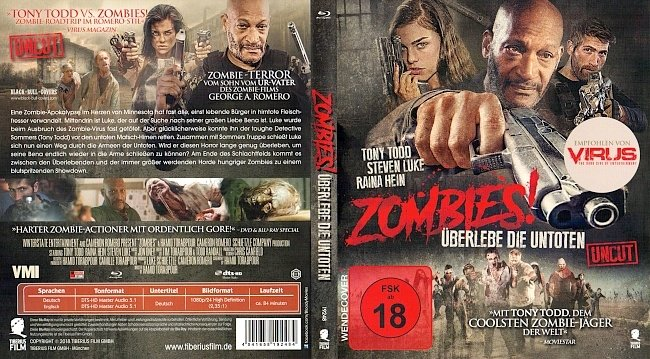 Zombies Ueberlebe die Untoten Uncut Deutsch German german blu ray cover