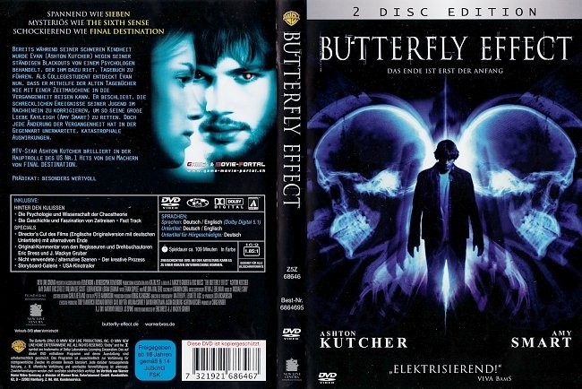 Butterfly Effect 1 Ashton Kutcher DVD-Cover deutsch