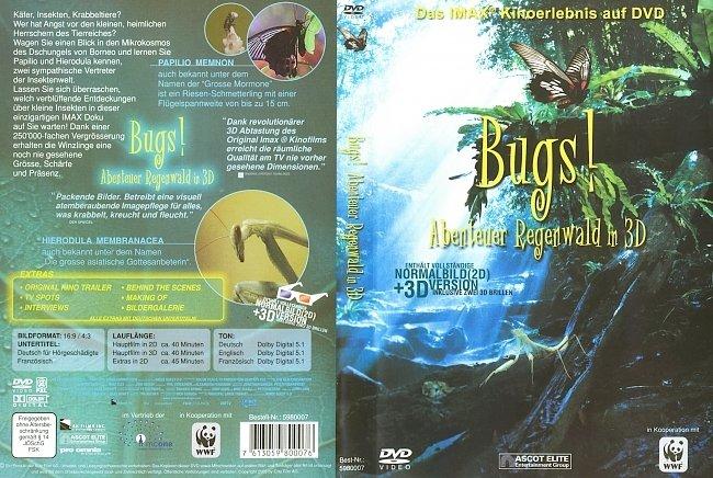 Bugs Abenteuer Regenwald in 3D DVD-Cover deutsch