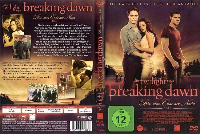 Breaking Dawn Biss zum Ende der Nacht Teil 1 DVD-Cover deutsch