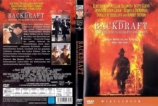 Backdraft DVD-Cover deutsch