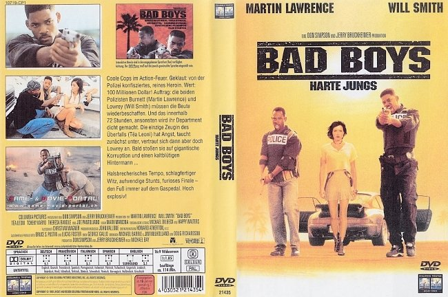 Bad Boys Will Smith Martin Lawrence DVD-Cover deutsch