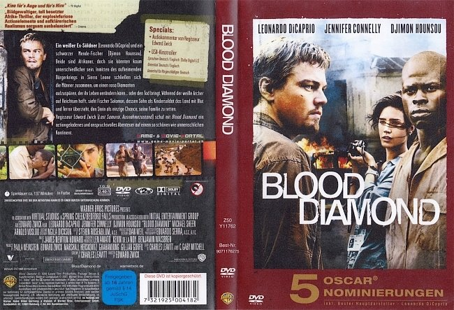 Blood Diamond DVD-Cover deutsch