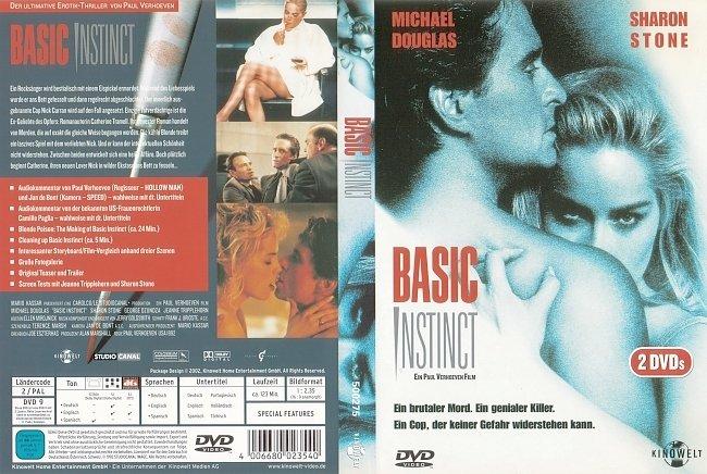 Basic Instinct DVD-Cover deutsch