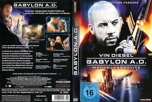 Baybylon AD Vin Diesel DVD-Cover deutsch