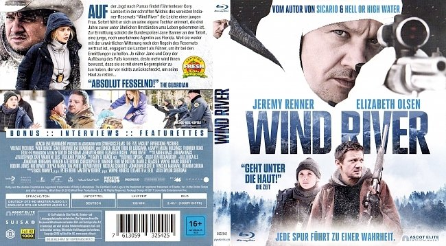Wind River Blu ray Film Cover Deutsch German german blu ray cover
