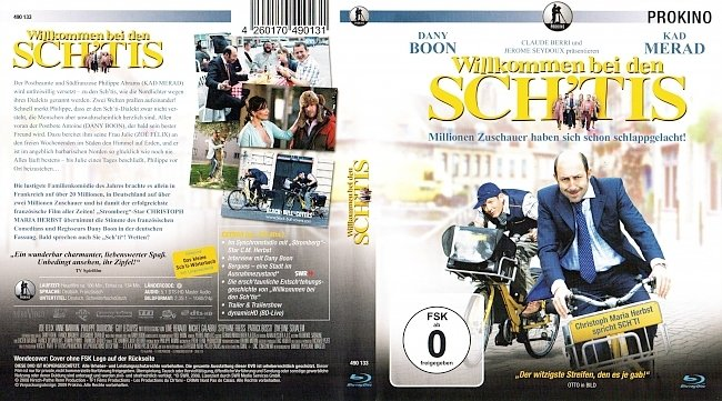 Willkommen bei den Schtis Cover Deutsch German BD Bienvenue chez les Ch tis german blu ray cover