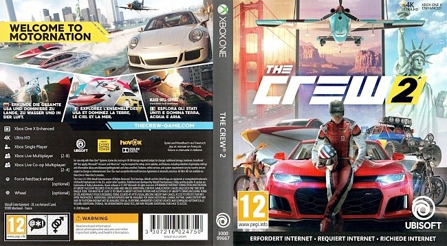 The Crew 2 german xbox one cover German german xbox one cover