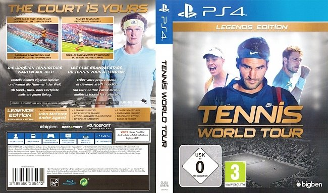 Tennis World Tour german ps4 cover German german ps4 cover