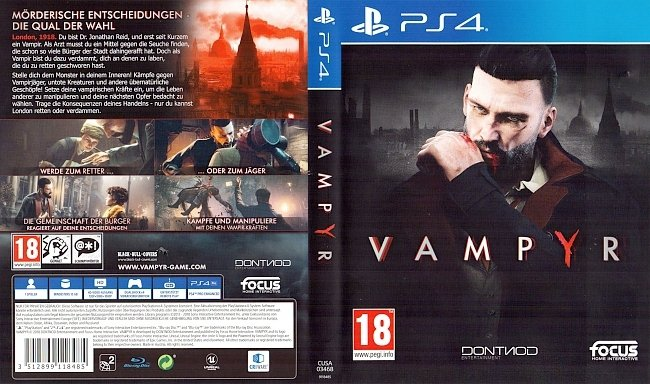 Vampyr Cover PS4 Deutsch German german ps4 cover