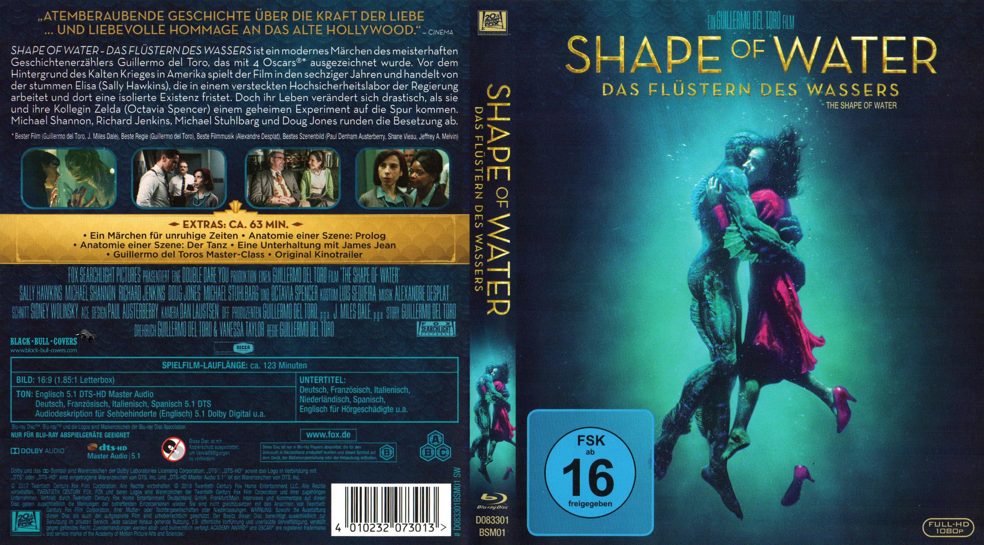 Shape of Water Das Flustern des Wassers Blu ray German Deutsch blu ...