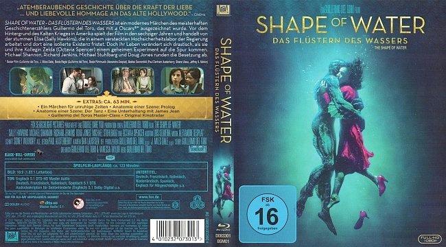 Shape of Water Das Flustern des Wassers Blu ray German Deutsch blu ray cover german