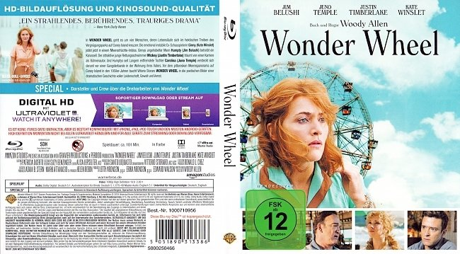 Wonder Wheel Woody Allen Cover Deutsch German german blu ray cover