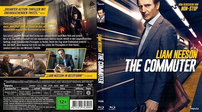 The Commuter Blu ray Deutsch German Liam Neeson german blu ray cover