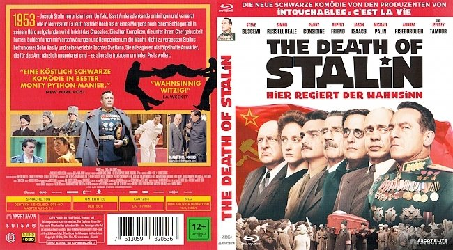 The Death of Stalin Hier regiert der Wahnsinn Cover Deutsch German german blu ray cover