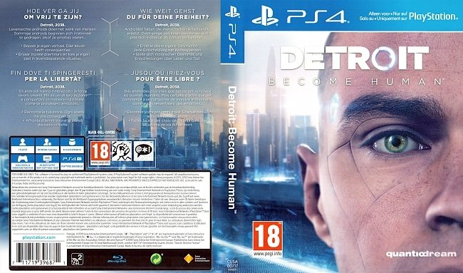 Detroit Become Human Deutsch German Cover PS4 german ps4 cover