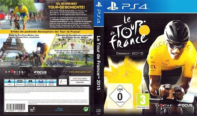 Le Tour de France 2015 Cover PS4 Deutsch German german ps4 cover