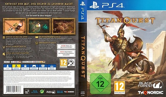 Titan Quest PS4 Playstation 4 Cover German Deutsch german ps4 cover