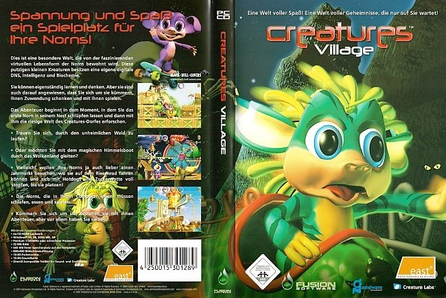 Creatures Village Cover Deutsch German PC Computer Games pc cover german