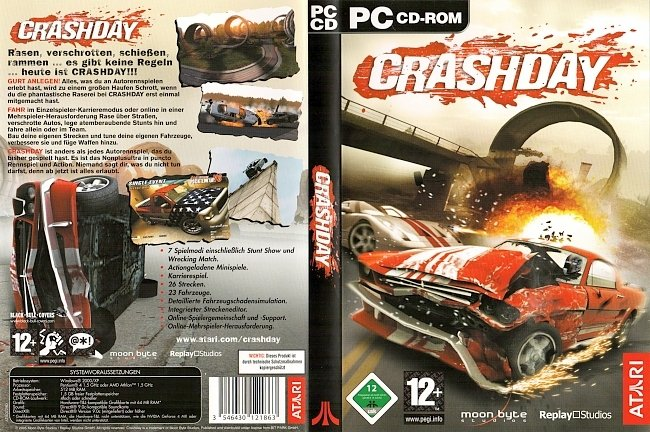 Crashday PC CD ROM Cover Deutsch German pc cover german