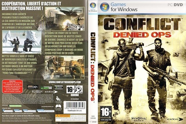 Conflict Denied Ops Francais Franzoesisch French Cover pc cover german