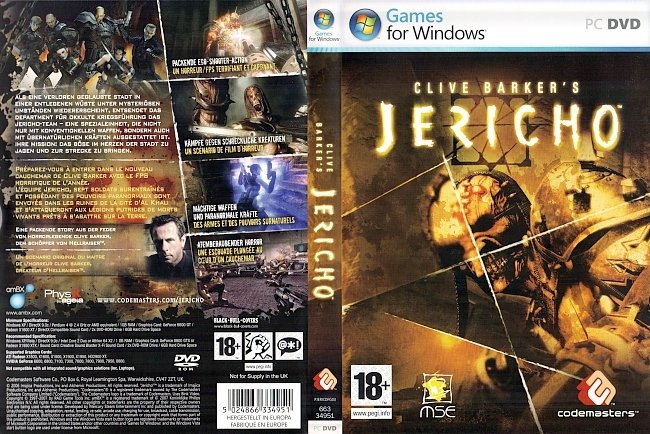 Clive Barkers Jericho Deutsch German Cover pc cover german