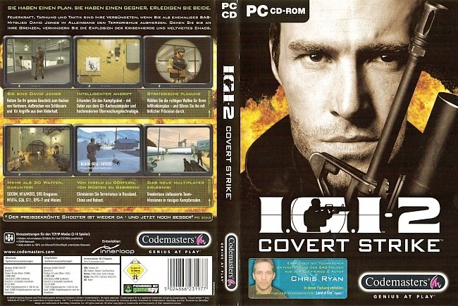 Project IGI 2 Cover Strike PC CD ROM Deutsch German Cover pc cover german