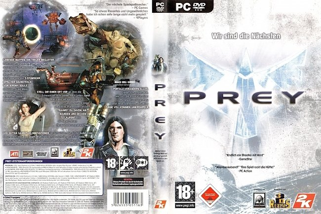 Prey 2K Games Cover Deutsch German PC Computer pc cover german