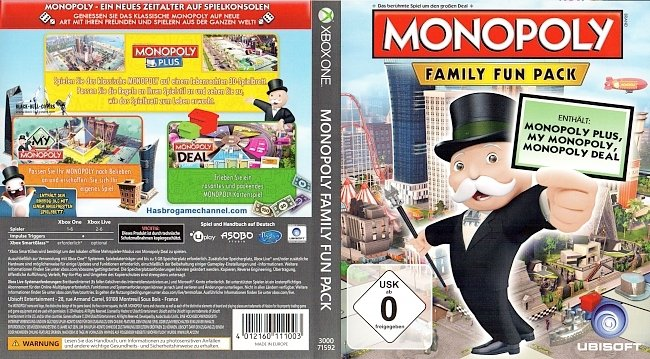 Monopoly Family Fun Pack Cover Deutsch German german xbox one cover