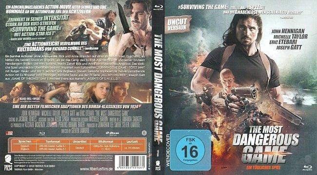 The Most Dangerous Game Ein todliches Spiel Cover Deutsch German Bluray german blu ray cover