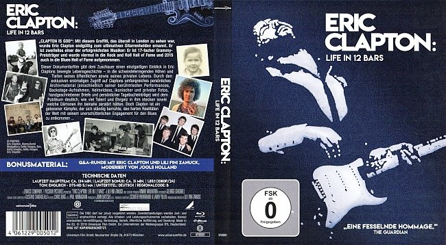 Eric Clapton Life in 12 Bars Cover Deutsch German Bluray german blu ray cover