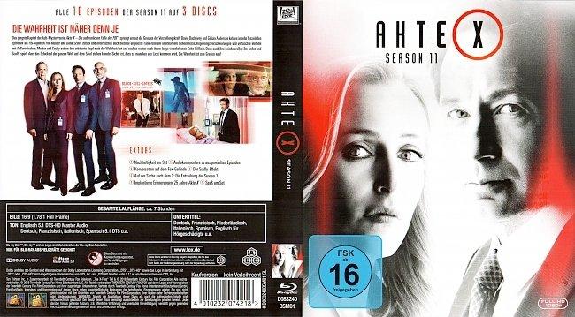 Akte X Season 11 Staffel 11 Serie Cover Deutsch German Bluray german blu ray cover