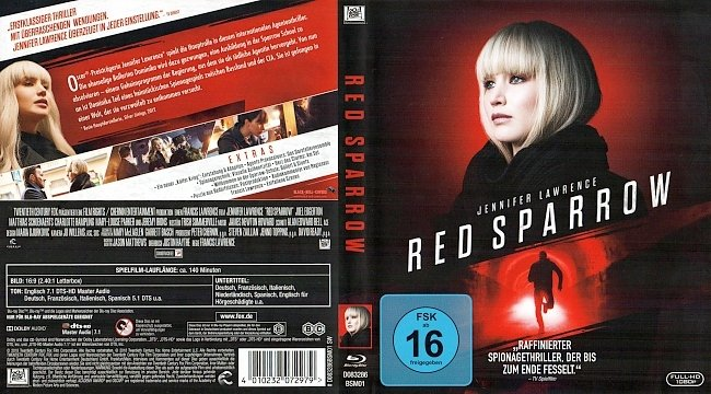 Red Sparrow Cover Deutsch German Blu ray german blu ray cover