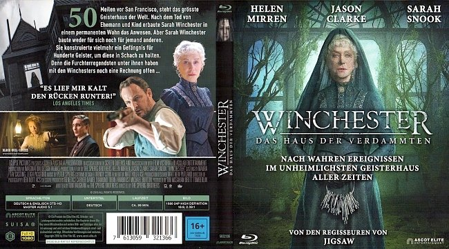 Winchester Das Haus der Verdammten Cover Deutsch German german blu ray cover