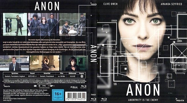 Anon Deutsch Cover German Bluray german blu ray cover
